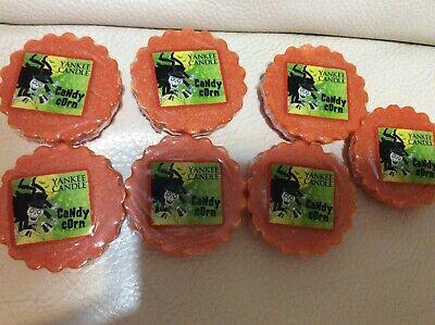 Orange Candy Melts (Yankee Candle Seven (7) Candy Corn Tarts New! Orange Autumn Wax Melts)