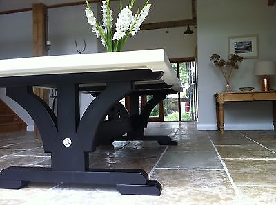 8,10,12 seater Large Rustic Painted, Choice of King or Queen Post End Table.