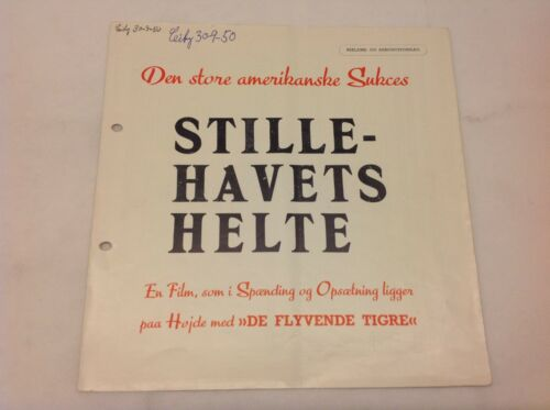 The Fighting Seabees John Wayne Susan Hayward 1944 Danish Movie Press Release