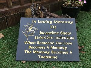 Stone Memorial Plaque eBay