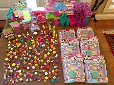 Shopkins ~ Huge Lot ~ Play Sets-Grocery Store/Shoe Dazzle/Ballet/Best Dressed - Best Disney Princess Dresses