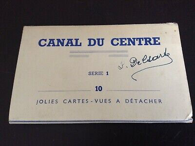 Carnet Canal du centre lot de 10 anciennes cartes postales