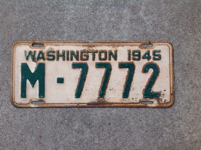 1945 - WASHINGTON LICENSE PLATE