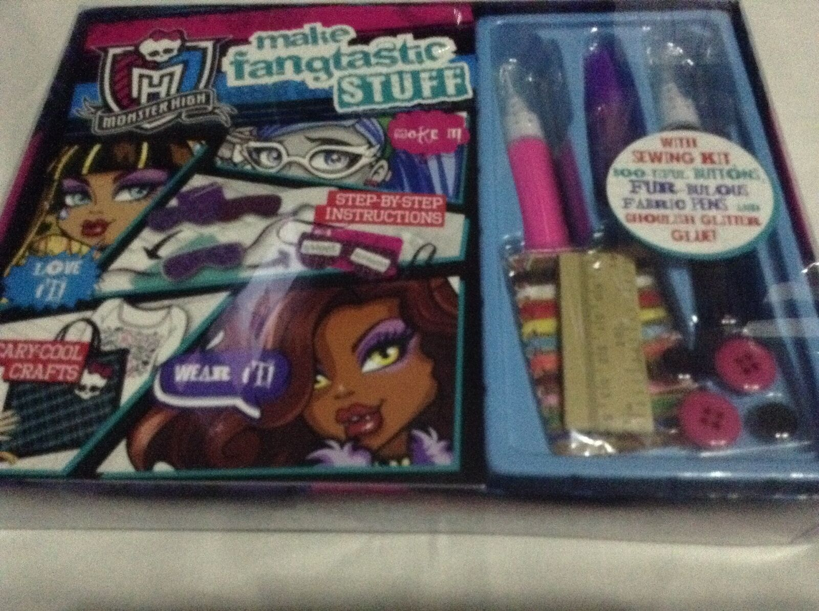 Monster High Activity Set Contains Craft Book, Sewing Kit, Fabric + Glitter Pens