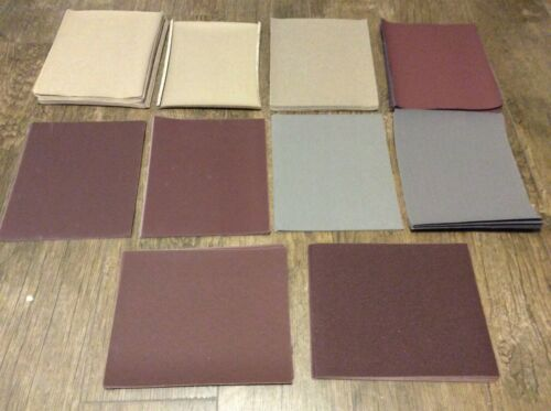 "155 Piece Assorted Lot of 9""x11"" Sandpaper Sheets New"