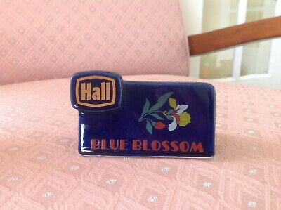 """Vintage China """"Blue Blossom"""" Advertising Display Sign for Hall China Co"""