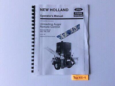 New Holland 355 358 359 Unloading Auger Remote Control Grinder-mixer 1-90 Om
