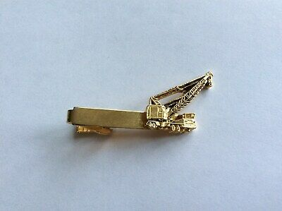 1960s Construction Equipment Mobile Crane Promotional Tie Bar.