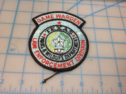 TEXAS Game Warden Parks/Wildlife Div. Law Enforcement Div. Embroidered Patch (T)