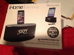 iHOME: Docking with lightning connector Fm Stereo Clock Radio with Dual Charge: