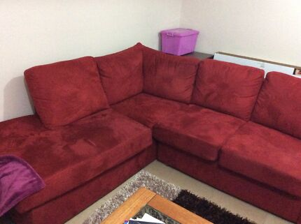 Red couch  Carramar Fairfield Area Preview