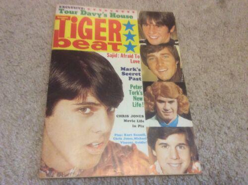 Tiger Beat Magazine November 1968 Featuring Davy Jones