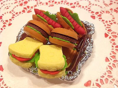 """7 Pc TEA PARTY~Mini Pretend Toy Play Food~For 15-18""""American Girl Dolls~Replicas"""