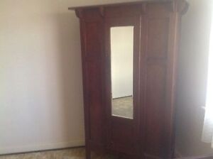 Bedroom  antique wardrobe and single  bed circa 1920 quick sale Bicton Melville Area Preview