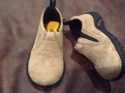 Taupe Classic Schuhe (Merrell Jungle Moc Jr.Classic Taupe Wildleder Halbschuhe Kleinkinder Größe 4 Neu)