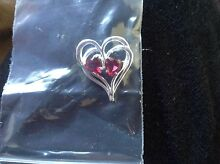 Silver heart pendant Arncliffe Rockdale Area Preview