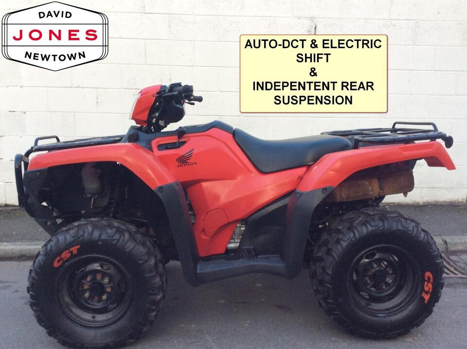 2015 HONDA TRX500FA5 AUTO-DCT FOREMAN DCT 10 SPEED LOW BOX 4x2x4 QUAD BIKE ATV