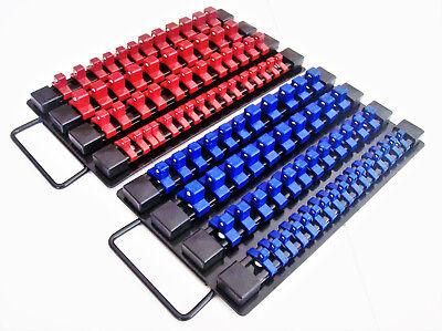 98Pc Goliath Industrial Socket Storage Tray Rail Rack Holder Set 1 4 3 8 1 2