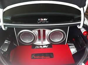 Rockford fosgate dual subs and amps Townsville Townsville City Preview