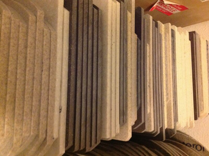 Corian/HiMac solid surface scrap material assorted colors ovals or rectangles