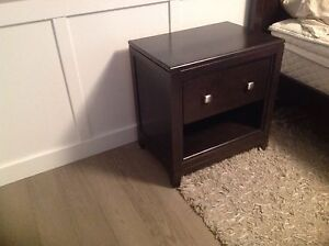 2 furniture world solid wood end tables