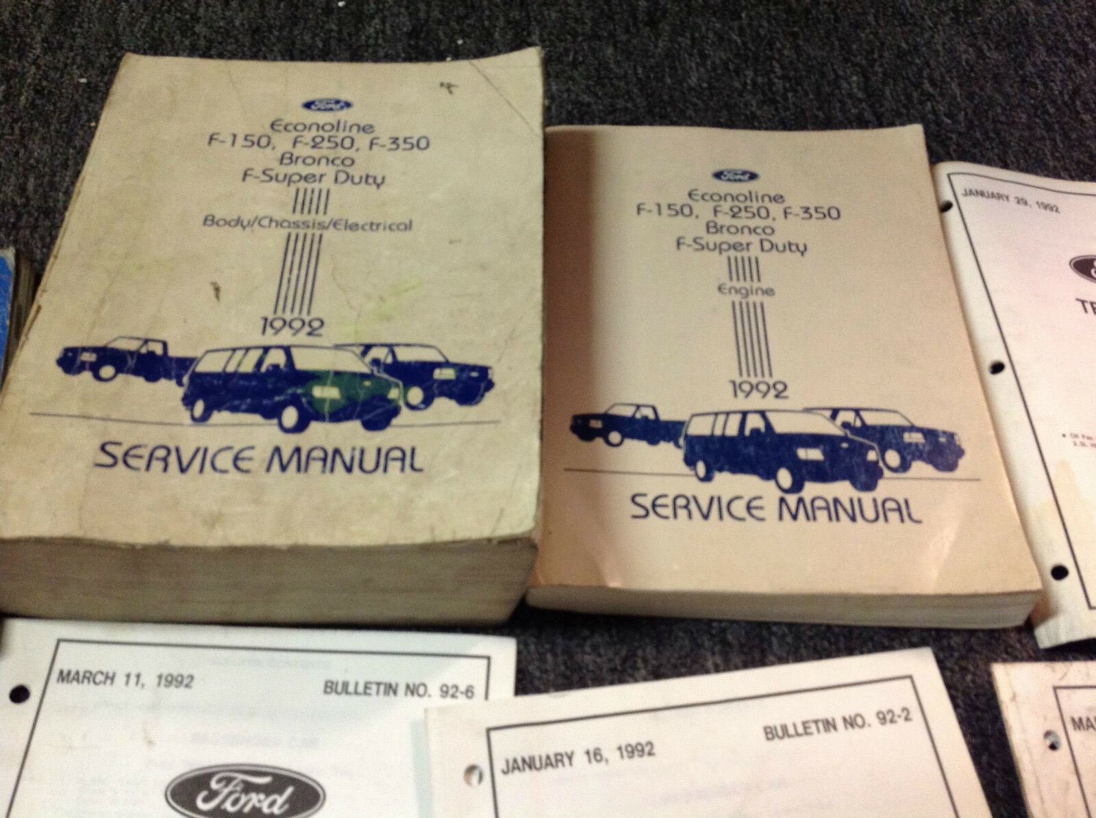 1992 ford f150 f250 f350 bronco truck service shop repair manual set rh extensivefad top 1992 ford f250 repair manual free download 1999 Ford F-250