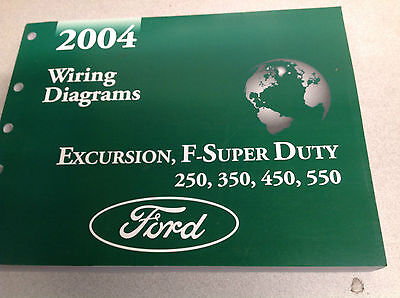 2004 Ford EXCURSION F-250 F350 F250 450 550 Wiring Electrical DIAGRAM Manual NEW