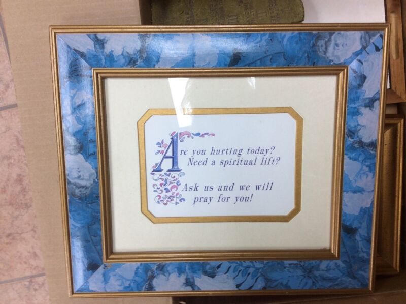 "BEAUTIFUL FRAMED PRINT  ""ARE YOU HURTING TODAY...."""