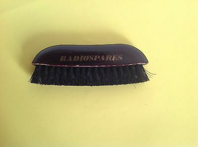 VINTAGE WOODEN RADIOSPARES ADVERTISING CLOTHS BRUSH