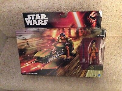 STAR WARS REBELS EZRA BRIDGER AND SPEEDER SEALED BOX