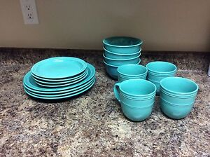 8-set of dishes and 6-set glasses
