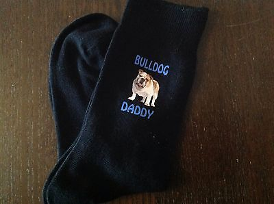 FATHERS BULLDOG DADDY FUN SOCKS CHRISTMAS BIRTHDAY GIFT PRESENT BRITISH BULL DOG