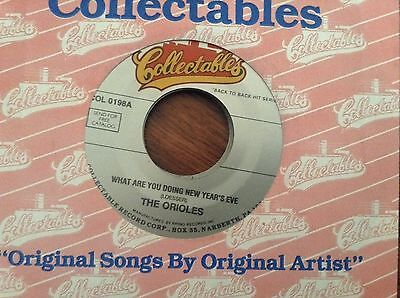 The Orioles What Are You Doing New Years Eve  Lonely Christmas   Unplayed 45 Rpm