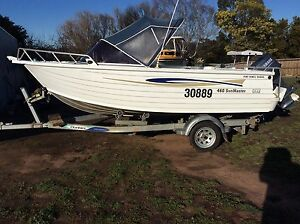Stacer sun master 4.6 m 50 h yamaha ( only 141 hours ) Campbell Town Northern Midlands Preview