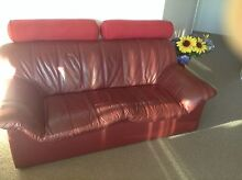 Leather chairs and sofa Halls Head Mandurah Area Preview