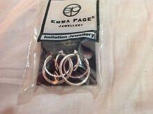 Emma Page silver hoop earings Arncliffe Rockdale Area Preview
