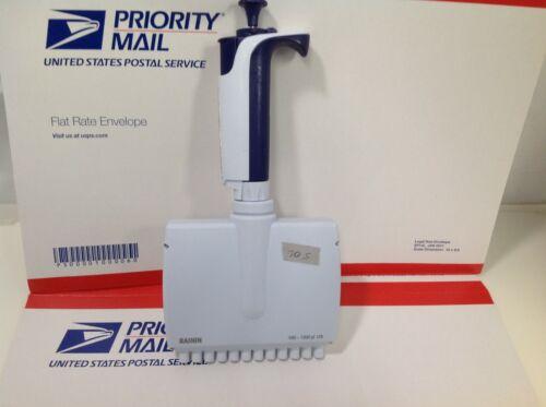 Rainin XLS Pipet-Lite L1200 12 MultiChannel Adj 100-1200 ul Pipette #705