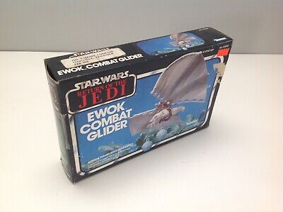 Vintage Star Wars Ewok Combat Glider With Original Box ROTJ
