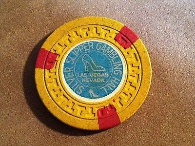SILVER SLIPPER GAMBLING HALL CASINO LAS VEGAS, NEVADA ~ $5 CHIP ~ FREE SHIPPING