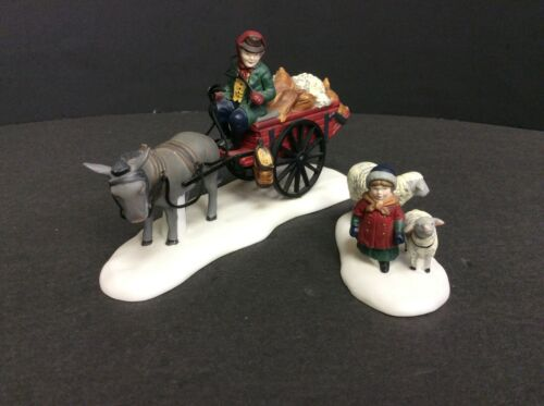 """DEPT 56  """"BRINGING FLEECES TO THE MILL""""  ~ (SET OF 2) ~  ** DICKENS"""