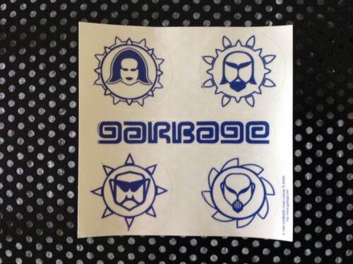 Garbage band 5 piece sticker set 1999 Shirley Manson