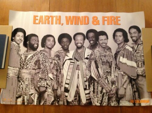 Earth, Wind & Fire Poster 2002 On Columbia Promotional Rare Print Photograph