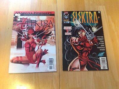 Electra #1. 2 comics 1996, 2001 Marvel comics (Superhero Electra)