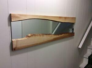 Live edge maple mirror.