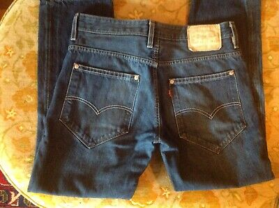 Levi's 511 White Label Denim Jeans Patented 1873 Rivets Selvedge 36/30