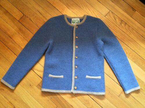 Handstrickerei Lanz Kids Sweater  Cardigan 100% Merino Wool Button Up size 140
