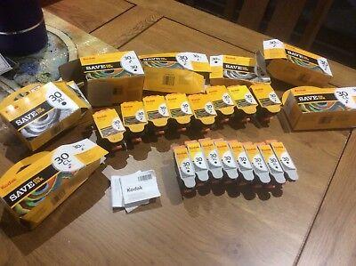 EMPTY/USED Printer Ink Cartridges Kodak Black and colour 30 CL 30 & 30XL
