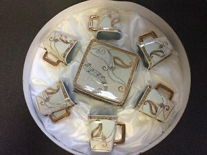 CHINESE TEASET 6cups & saucers..24ct gold trimmed. South Penrith Penrith Area Preview