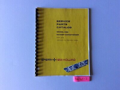 New Holland 489 Mower Conditioner Service Parts Catalog 8-78