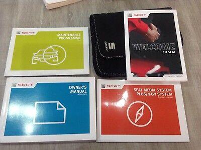 Seat Alhambra OWNERS MANUAL HANDBOOK PACK 2014-2016  MEDIA/NAVI +service bookw4